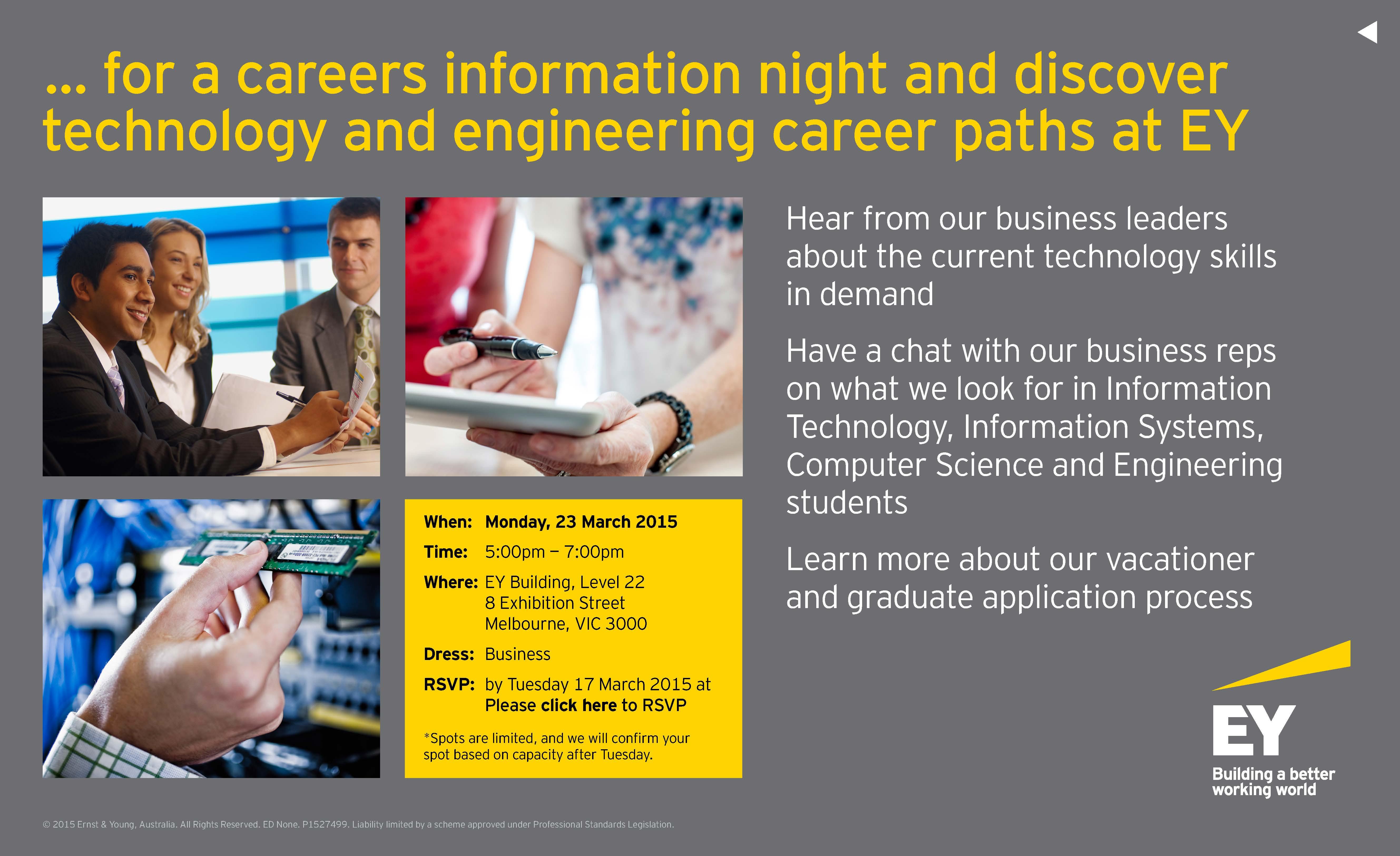 Engineering & IT CareersOnline | Invitation: EY: Careers for